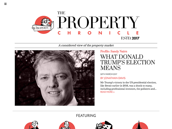 we built the property chronicle wordpress site